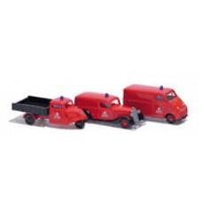 """Busch 1605 Fahrzeug-Set """"Nostalgische Feuerwehr"""""""