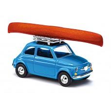 Busch 48729 Fiat 500 mit Kanu MIKROLÄNDER