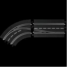 Carrera 30362 Spurwechselkurve - links, innen nach außen