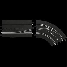 Carrera 30364 Spurwechselkurve - rechts, innen nach außen