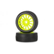 Carson 205600 Reifen-/Felgenset 1:8 leuchtgelb