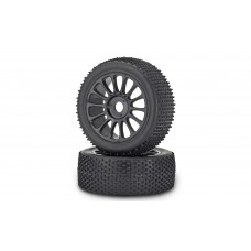 Carson 900075 Reifen/Felgen-Set Buggy, schwarz 1:8