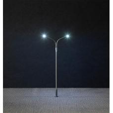Faller 180201 LED-Straßenbeleuchtung, Peitschenleuchte, Doppelausleger