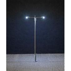 Faller 180203  LED-Straßenbeleuchtung, Ansatzleuchte, Doppelausleger