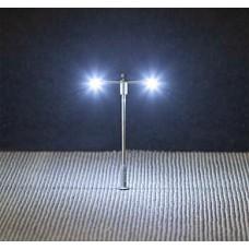 Faller 272223  LED-Straßenbeleuchtung, Ansatzleuchte, Doppelausleger