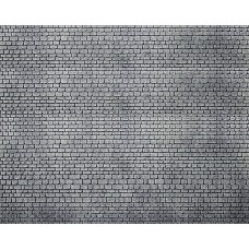 Faller 170805 Dekorplatte, Läufermauerwerk-Quader, grau