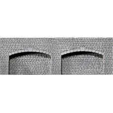 Faller 170835 Dekorplatte Arkaden, Naturstein-Quader