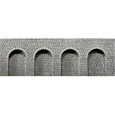 Faller 170838 Dekorplatte Arkaden, Naturstein-Quader