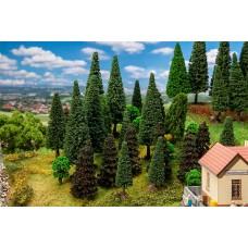 Faller 181530  30 Mischwaldbäume, sortiert