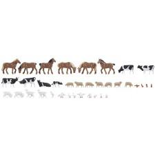 Faller 150938  36 Tiere auf dem Bauernhof