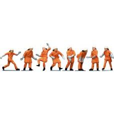 Faller 151036 Feuerwehrleute, Uniform orange