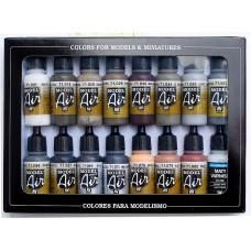 Vallejo 771194 Farb-Set, Alterungs-Set, 16 x 17 ml