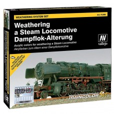 Vallejo 773099 Farb-Set, Alterung einer Dampflokomotive, 9 x 17 ml