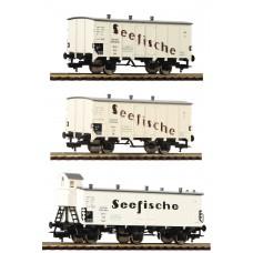 """Fleischmann 538101 3-tlg. Güterwagenset """"Seefische"""", DRG"""