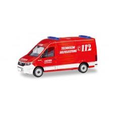 """Herpa 094900 MAN TGE Kasten HD """"Feuerwehr Aachen / Technische Hilfeleistung"""""""