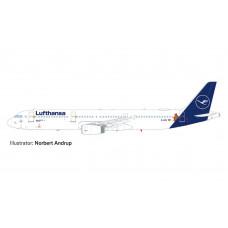"""Herpa 612432 Lufthansa Airbus A321 """"Die Maus"""" 1/200"""
