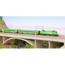 Hobbytrain LC95001S Spur N 4-tlg. Zugset FLIXTRAIN Taurus BR 182 mit Sound und 3 Wagen, Epoche VI - Limited Edition