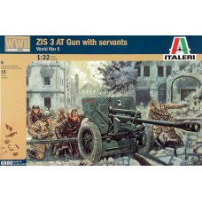 Italeri 6880 ZIS 3 AT Gun with servants 1:32
