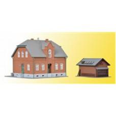 Kibri 38188 Siedlungshaus Oberhausen mit Nebengebäude