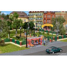 Kibri 38601 H0 Deko-Set Zaun für englischen Garten