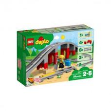 Lego 10872 Eisenbahnbrücke und Schienen