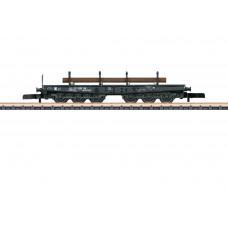Märklin 82343 Schwerlasttransportwagen SSym 46 mit Ladegut Rundprofilen