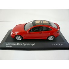 Minichamps 430030000 Mercedes-Benz Sportcoupe`, Magmarot