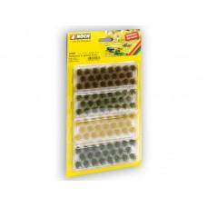 Noch 07009 Grasbüschel dunkelgrün, mittelgrün, braun, gold-gelb 104 Stück, je 6 mm