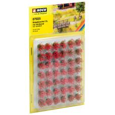 "Noch 07025 Grasbüschel Mini-Set XL ""blühend"" rot veredelt, 42 Stück, 12mm"