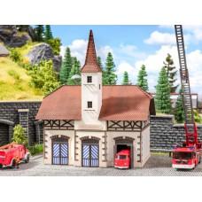 Noch 66380 Feuerwehrwache mit micro-sound Sirene HO
