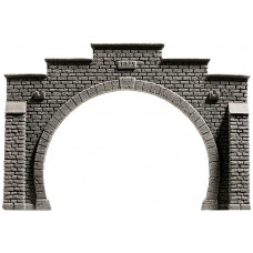Noch 34852 Tunnel-Portal,2gl.Steinmauer, 12,3 x 8,5 cm