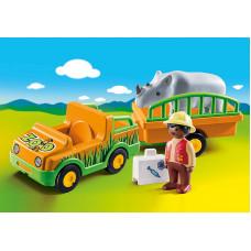 Playmobil 70182 Zoofahrzeug mit Nashorn