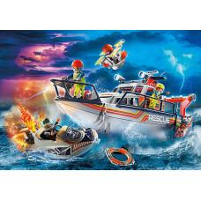 Playmobil 70140 Seenot: Löscheinsatz mit Rettungskreuzer