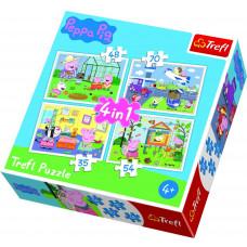 Trefl 34316 Peppa Pig Puzzle 4in1