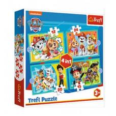 Trefl 343346 Paw Patrol Puzzle 4in1