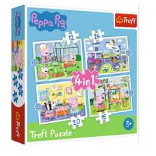 Trefl 34359 Peppa Pig Puzzle 4in1