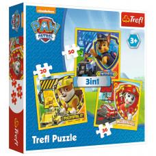 Trefl 34839  Paw Patrol Puzzle 3in1