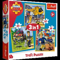 Trefl 34844  Feuerwehrmann Sam Puzzle 3in1