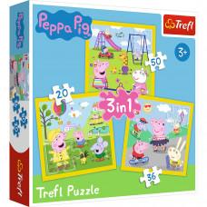 Trefl 34849 Peppa Pig Puzzle 3in1