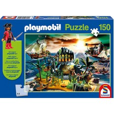 Playmobil 56020 Puzzle Pirateninsel, Schmidt Spiele