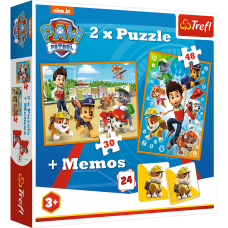 Trefl 90790 Paw Patrol 2 x Puzzle + Memos