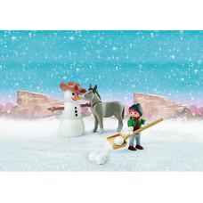 Playmobil 70398 Schneespaß mit Snips Herrn Karotte