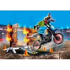 Playmobil 70553 Stuntshow Motorrad mit Feuerwand