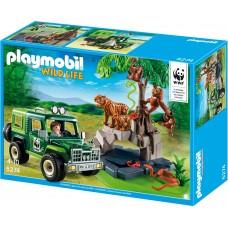 Playmobil 5274  WWF-Geländewagen bei Tigern und Orang-Utans