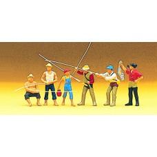 Preiser 10077 Angler und Sportfischer