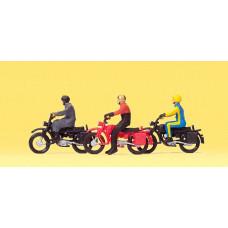Preiser 10081 Motorradfahrer auf Herkules