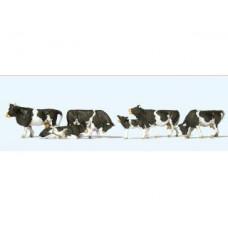 Preiser 10145 Kühe schwarz gefleckt