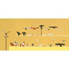 Preiser 10169 Tauben, Möwen, Krähen, Raubvögel