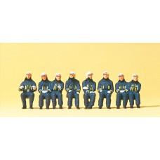 Preiser 10483 Feuerwehrmänner in Einsatzkleidung