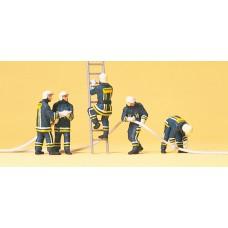 Preiser 10485 Feuerwehrmänner in Einsatzkleidung